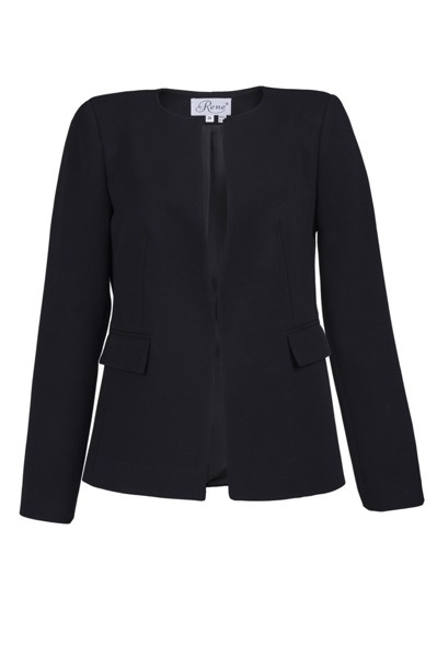Jacket black with Hook fastening