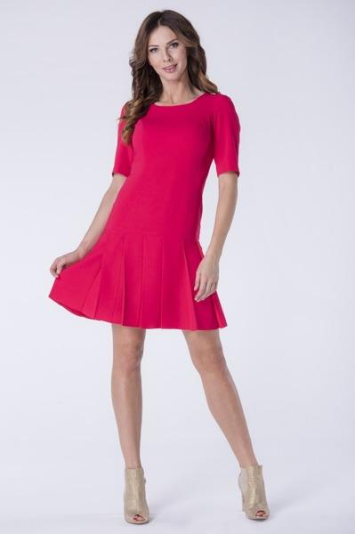 Krótka sukienka koralowa